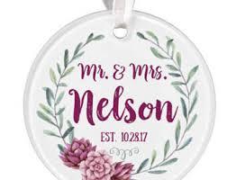 personalized wedding christmas ornament wedding ornaments etsy