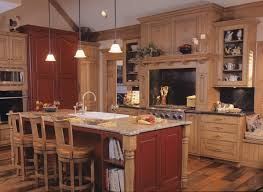 rustic kitchens designs rustic kitchen with red and tan wood color scheme by drury design