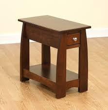 narrow side tables for living room living room varnished cherrywood narrow end table with drawer mixed