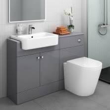 Vanity Bathroom Suite by Bathrooms Suites Harper Gloss Grey Combined Toilet U0026 Basin
