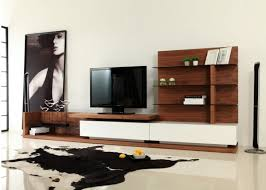 Living Room Tv Unit Furniture by Modrest Jefferson Modern Walnut And White High Gloss Tv Unit
