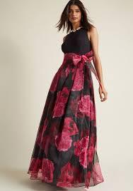eliza j dresses eliza j party prestige floral maxi dress in black modcloth