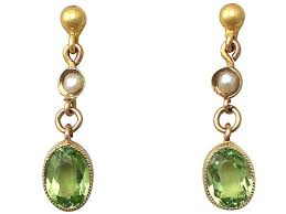 earrings uk peridot earrings uk antique jewellery ac silver