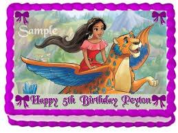ebluejay elena of avalor princess cake topper edible birthday
