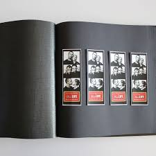guest book with black pages glorious leather photostrip insert 50pg drymount no glassine