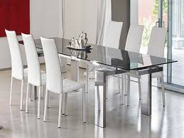 steel dining table set glass dining room chairs stainless steel dining table for 6 with