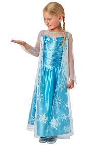 elsa girls fancy dress kids ice queen disney princess childs