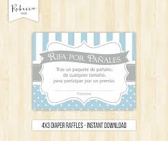 raffle baby shower raffles rifas para pañales baby shower in