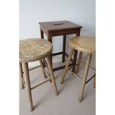 3 wooden rustic kitchen bar table stools shabby chic