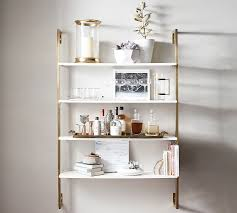 wall shelves wall mounted shelves pottery barn