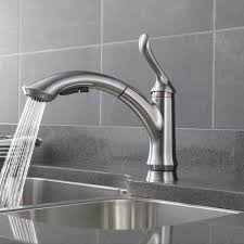 low flow kitchen faucet bath4all delta 4353 dst linden pull out kitchen faucet with