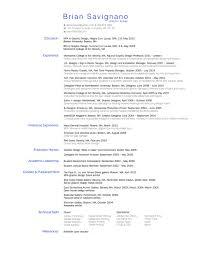 Css Resume Resume U2014 Brian Savignano