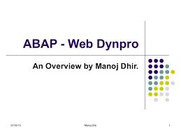 tutorial java web dynpro abap web dynpro