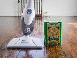steam cleaning to get sparking hardwood floors which are free from