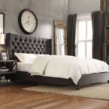 Nail Button Wingback Bed by Button Tufted Upholstered Headboard Coaster Upholstered Beds King