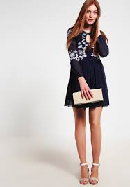 frock and frill embellished dress with cap sleeve women dresses