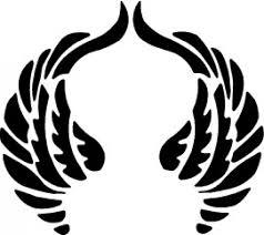 praying wings design vector free
