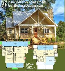 house plans with front and back porches plan 68400vr cottage escape with 3 master suites architectural