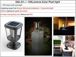 solar powered pillar lights china electric solar powered pillar light led for garden gate ideas