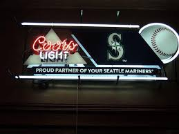 vintage coors light neon sign coors light seattle mariners neon sign mlb teams neon light for sale
