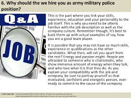 Military Police Resume Examples by Top 10 Army Military Police Interview Questions And Answers