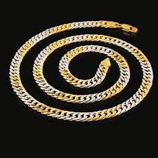 tone gold necklace images Two tone gold necklace women fashion jewelry gold silver plated jpg