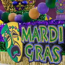 large mardi gras mask use large pre made signs for instant wow factor day