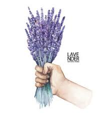 lavender bouquet watercolor lavender bouquet royalty free vector image