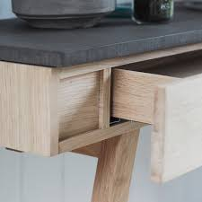 Concrete Console Table Verita Modern Console Table Oak Concrete Consoles Tables