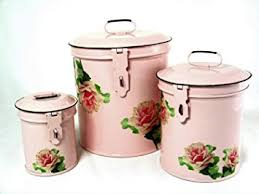 pink canisters kitchen retro vintage canister set kitchen storage