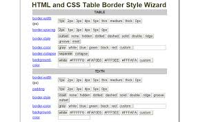 Css Table Border Color Useful And Free Css Tools