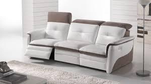 canape angle cuir relax electrique canapé d angle relaxation électrique en cuir orlando coloris blanc