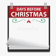 christmas countdown calendar christmas countdown calendar stock vector illustration of