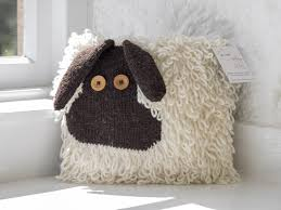 Patterns For Knitted Cushion Covers Shauna The Sheep Cushion Cover Aran Pattern New Lanark Wool And
