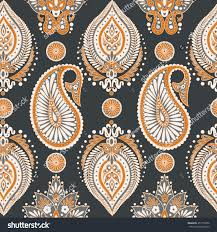 paisley seamless pattern vintage floral wallpaper stock vector