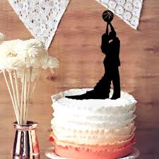 basketball cake topper silhouette cake topper broom and gride holding basketball