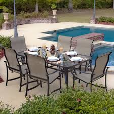 6 Person Patio Dining Set - 6 person round glass dining table gallery dining