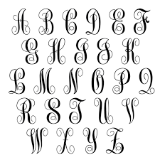 monogram initials monogram initials script circle