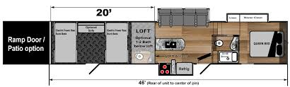 Toy Factory Lofts Floor Plans Toy Hauler 5th Wheels