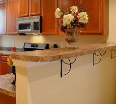 kitchen island beige granite breakfast bar countertop designs