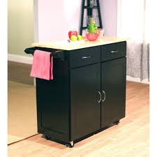 catskill small butcher block cart 21 black kitchen rack microwave