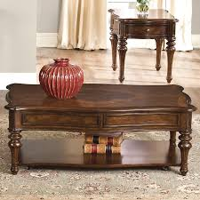 shop liberty furniture andalusia cherry coffee table at lowes com