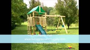 how to build a kids playset free plans youtube