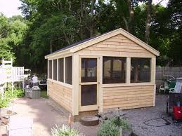 Backyard Screen House by Echo Neck Yard Solutions Sheds And More
