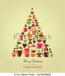 vintage christmas tree clipart vector of vintage christmas tree coffee icons coffee
