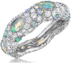 Opal Wedding Rings by Victorian Era Antique Opal U0026 Old Miner Cut Diamond Ring Solid 18k