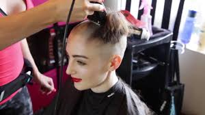 very beautiful headshave girls sexy woman headshave youtube