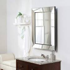 Bathroom Mirrors And Medicine Cabinets Beveled Mirror Medicine Cabinet Foter