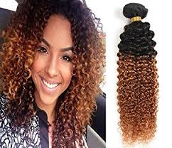 jerry curl weave hairstyles amazon com yami 7a two tone jerry curl ombre hair weaves brown