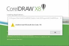 corel draw x4 error reading file coreldraw x8 unable to load vgcore dll error code 193 knowledge